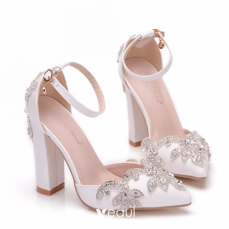 Chic / Beautiful Nude Wedding Shoes 2018 Lace Flower