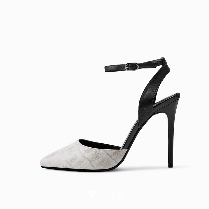 Chic / Beautiful Evening Party Pumps 2017 Hall Leather High Heel Pointed Toe Pumps
