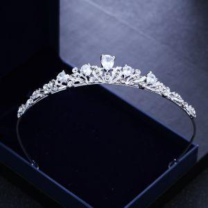 Klassieke Zilveren Tiara 2018 Metaal Rhinestone Huwelijk Accessoires
