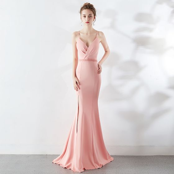04fcf6255f modest-simple-blushing-pink-evening-dresses-2019-trumpet-mermaid-spaghetti- straps-sleeveless-backless-split-front-sweep-train-formal-dresses -560x560.jpg