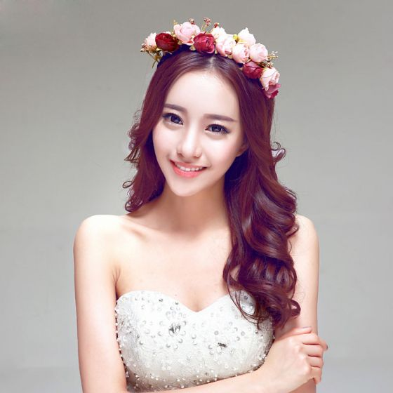 Bridal Headpiece /Head Flower / Wedding Hair Accessories / Wedding Jewelry/Garland