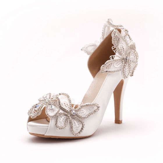 Soluble Shine Rhinestone Lace Elegant Bridal Shoes / Wedding Shoes / Woman Shoes