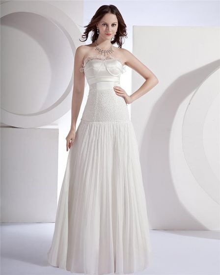 Sweetheart Floor-length Sleeveless Tulle Chiffon Celebrity Prom Prom Dress