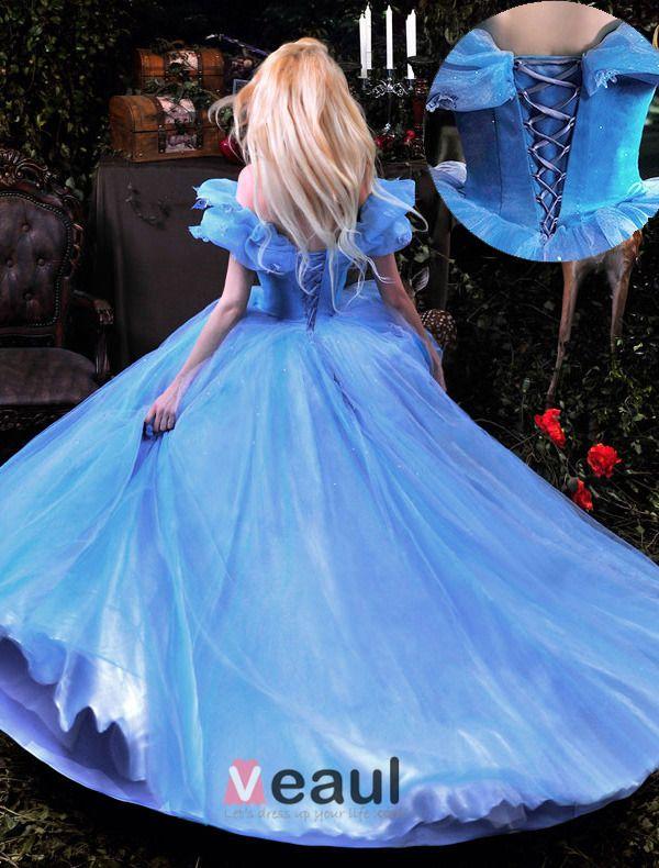 Luxus Hochwertigem 2015 Cinderella Film Custume Ballkleider