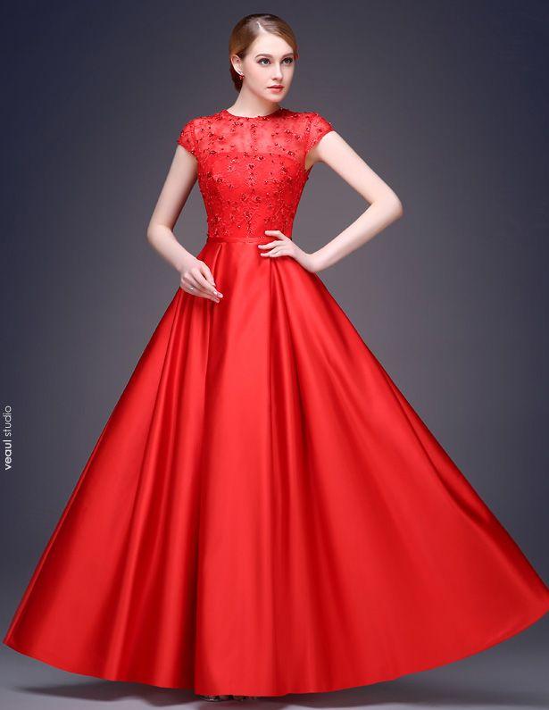 2015 A-linie Sleeveless Quadratischen Ausschnitt Bodenlange Sicke Pailletten Blume Seidensatin Abendkleid