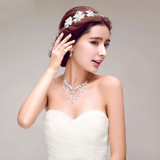 Rhinestone The Bridal Headpiece/ Earring / Necklace Three-piece