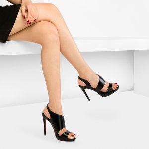Chic / Beautiful Leather High Heels 2017 High Heel Open / Peep Toe Pumps