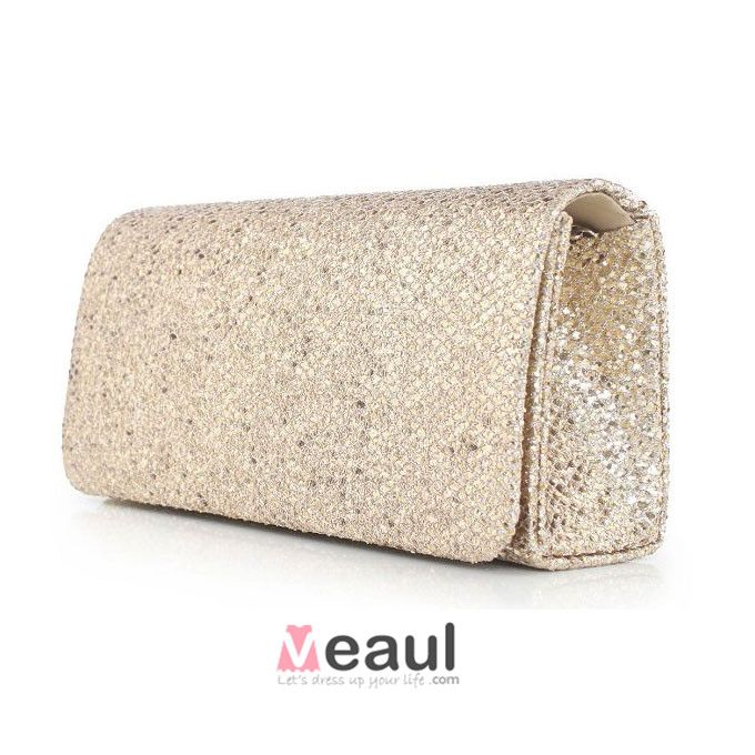 Ladies Sparkling Sequined Clutch Bag European And American Fashion Solid Color Evening Bag Dress