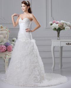 Blume Rüsche-schatz Gericht Reich Brautkleider Hochzeitskleid