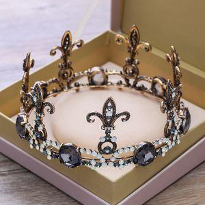 Vintage / Originale Noire Tiare 2018 Métal Faux Diamant Mariage Accessorize