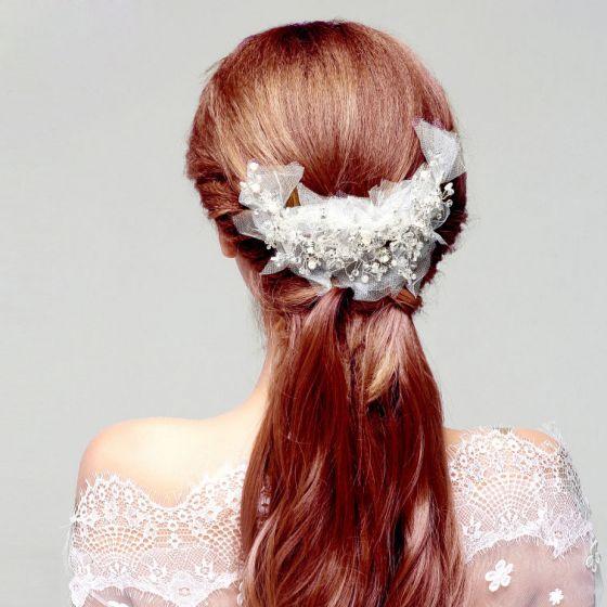 Mode Perle Rhinestone Brude Hovedbeklædning Headpieces Bryllup Hår Tilbehør
