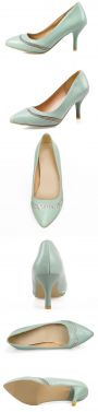 Elegant Patent Leather Blue Pumps 7 Cm Stiletto Heels Womens Shoes With Rhinestone