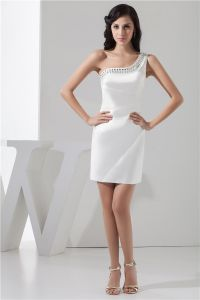 2015 Beautiful Sheath One Shoulder Crystal Cocktail Dress Simple Party Dress