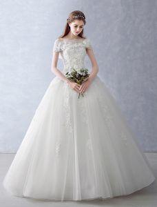 Robe De Mariée Élégantes 2016 Robe De Bal En Dentelle Bustier À Volants De Tulle Appliques Robe De Mariée Avec Châle