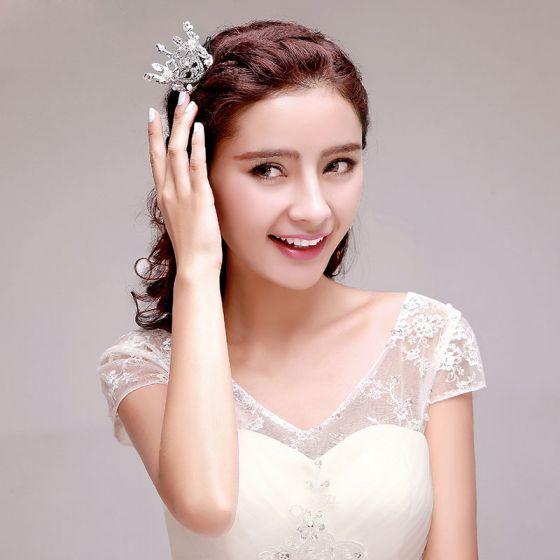 Mode Rhinestone Brude Smykker Bryllup Tiara
