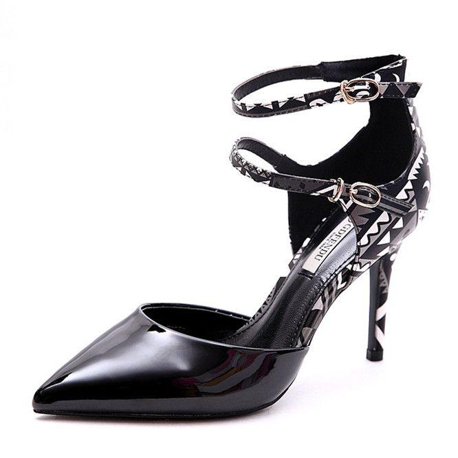 Amazing / Unique 2017 8 cm / 3 inch Black Green White Casual Outdoor / Garden PU Summer High Heels Stiletto Heels Pumps
