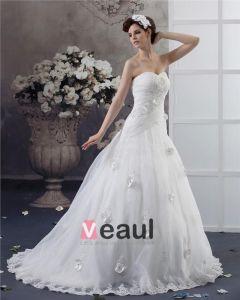 Długosc Podlogi Aplikacja Kochanie Linke Przedzy Plisowana Suknia Balowa Suknie Ślubne Sukienki Ślubne