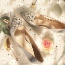 Sparkly Silver Wedding Bridesmaid Pumps 2019 Rhinestone Sequins 8 cm Stiletto Heels Pointed Toe Wedding Shoes