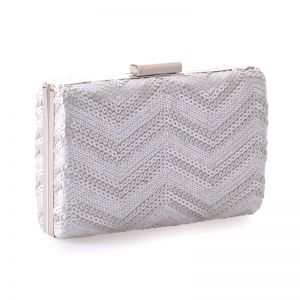 Chic / Beautiful Silver Sequins Metal Clutch Bags 2018