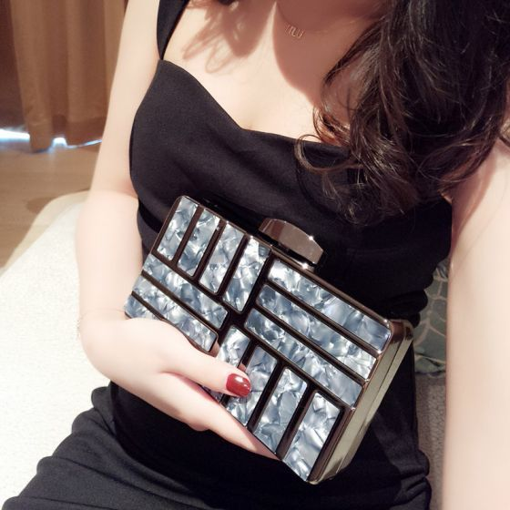 Modern / Fashion Black Acrylic Clutch Bags 2018