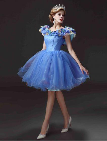2015 Movie Jurk Korte Cinderella Volwassen Kostuum Galajurken