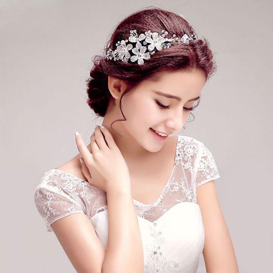 Glans Strass Bruids Hoofdtooi / Head Bloem / Bruiloft Haar Accessoires / Bruiloft Sieraden