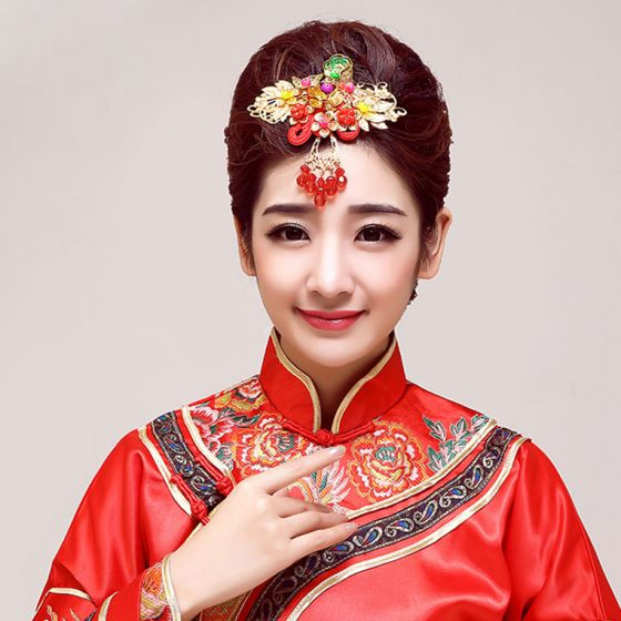Klassisk Kinesisk Stil Brude Headpieces / Bryllup Hårpynt / Bryllup Smykker