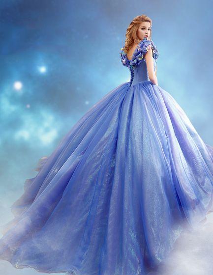 2015 Film Kjole Cinderella Voksen Drakt Ballkjole