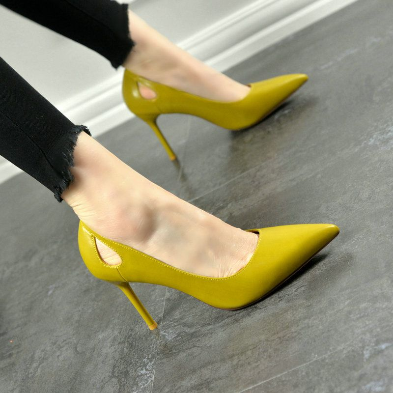 Chic / Beautiful Office Pumps 2017 PU High Heels Pointed Toe Pumps