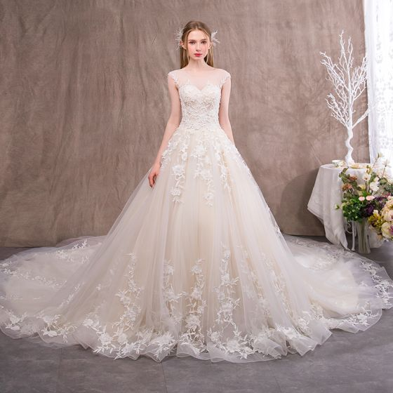 Luxury / Gorgeous Champagne Wedding Dresses