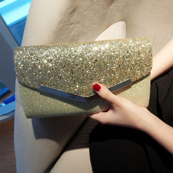 Bling Bling Gold Glitter Clutch Bags 2018