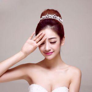 Mode Brude Smykker Bryllup Tiara Hår Tilbehør