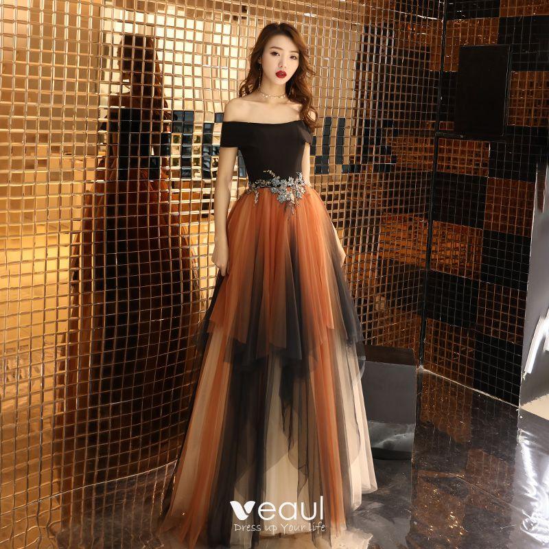 de166a1d76a1 Colores Multi-Colors Vestidos de noche 2019 A-Line / Princess Fuera ...