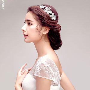Süß Shine Blume Strass Braut Kopfstück / Haarschmuck Braut