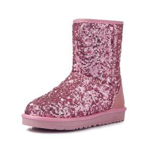 Sparkly Kvinders Mode Pailletter Ankel Vinter Sne Støvler