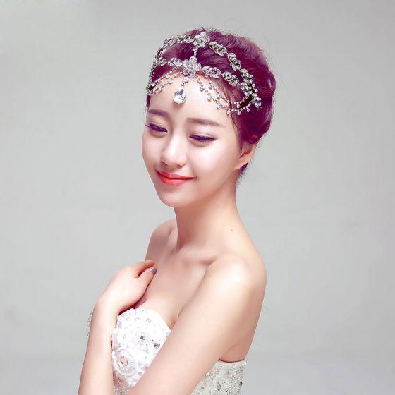 Mode Temperament Braut Kopfstück Stirnband / Ohrring / Halskette Dreiteilige
