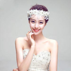 Strass Frangee La Coiffe De Mariée / Dentelle Tete Fleur / Accessoires De Cheveux De Mariage / Bijoux De Mariage