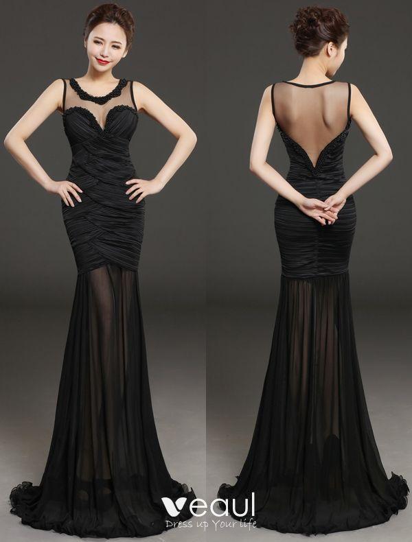 Glamorous Evening Dresses 2016 Beading Scoop