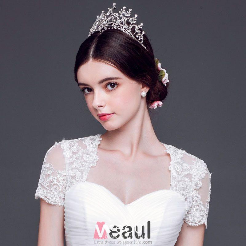 Shine Bridal Large Crown Tiara / Wedding Hair Accessories
