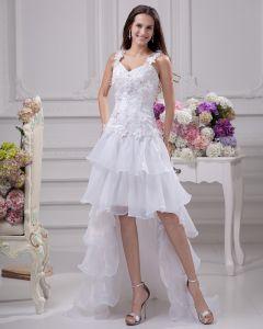 Linke Moda Aplikacja Pietro Spaghetti Długosc Tasmy Koronki Satyna Organzy Mini Wysoki Niski Asymetryczny Suknia Ślubna Krótkie Suknie Ślubne