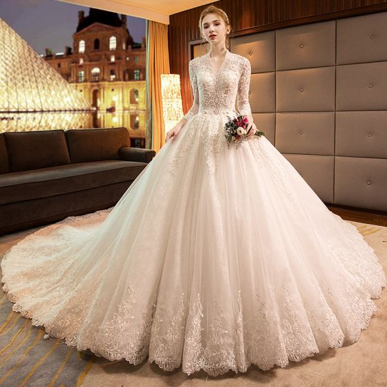 9d1af1884 luxury-gorgeous-champagne-wedding-dresses-2019-ball-gown -v-neck-beading-lace-flower-long-sleeve-backless-royal-train-560x560.jpg