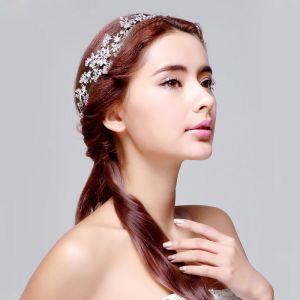 Strass Cristal Mariée Coiffure / Fleur Tete / Accessoires De Cheveux De Mariage / Bijoux De Mariage