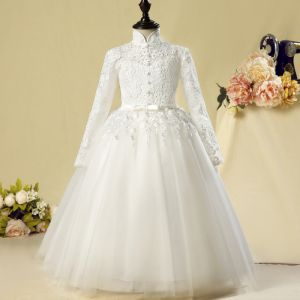 Chinese style Church Wedding Party Dresses 2017 Flower Girl D