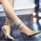 Schöne Silber Abend Leder Damenschuhe 2020 Lackleder 10 cm Stilettos Spitzschuh Hochhackige