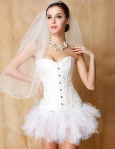 Bridal Abdomen Recoil Gather Corset