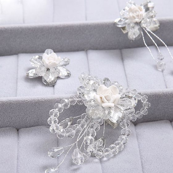 Parel Bloem Bruids Hoofdtooi / Head Bloem / Bruiloft Haar Accessoires / Bruiloft Sieraden