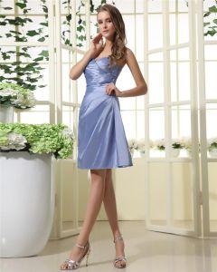 Stylish Taffeta Sweetbeart Neckline Knee Length Bridesmaid Dress Gown