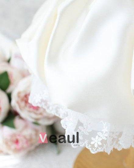 Lace Bowknot Sequin Flower Girls Dress