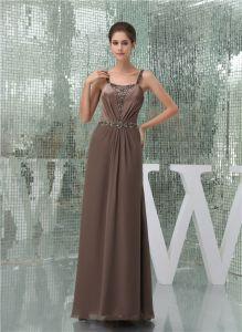 2015 Elegant Empire Straps Beading Sash Long Evening Dress