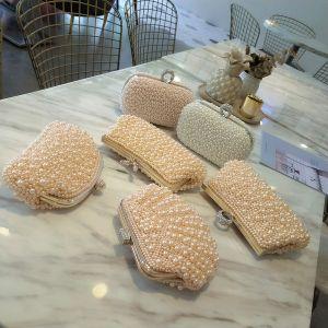 Elegante Gold Perlenstickerei Perle Clutch Tasche 2020